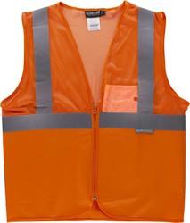 4c72ead18d2 Chaleco de rejilla de alta visibilidad con cintas reflectantes Naranja A.V.