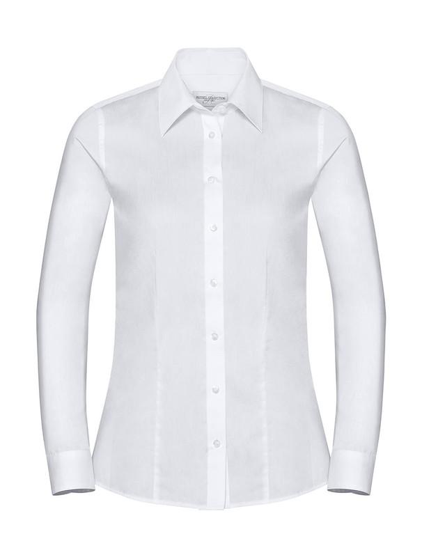 Camisa de lino y algodón de manga larga para mujer — Maxport