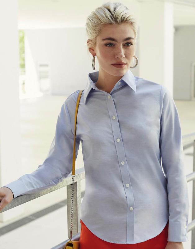 Camisa manga larga Mujer Stretch Oxford — Maxport Vestuario